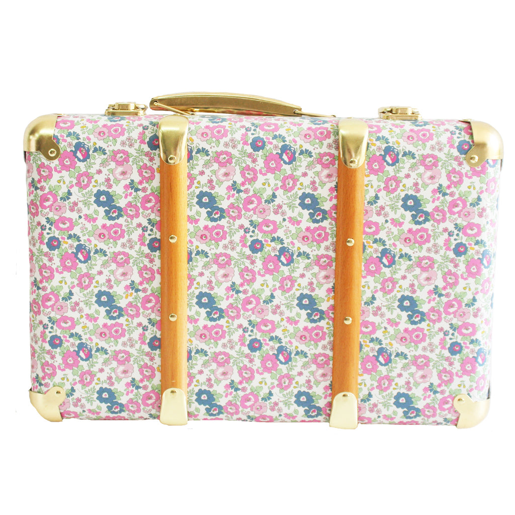 KIDS CARRY CASE - VINTAGE STYLE IN PETIT FLORAL DESIGN