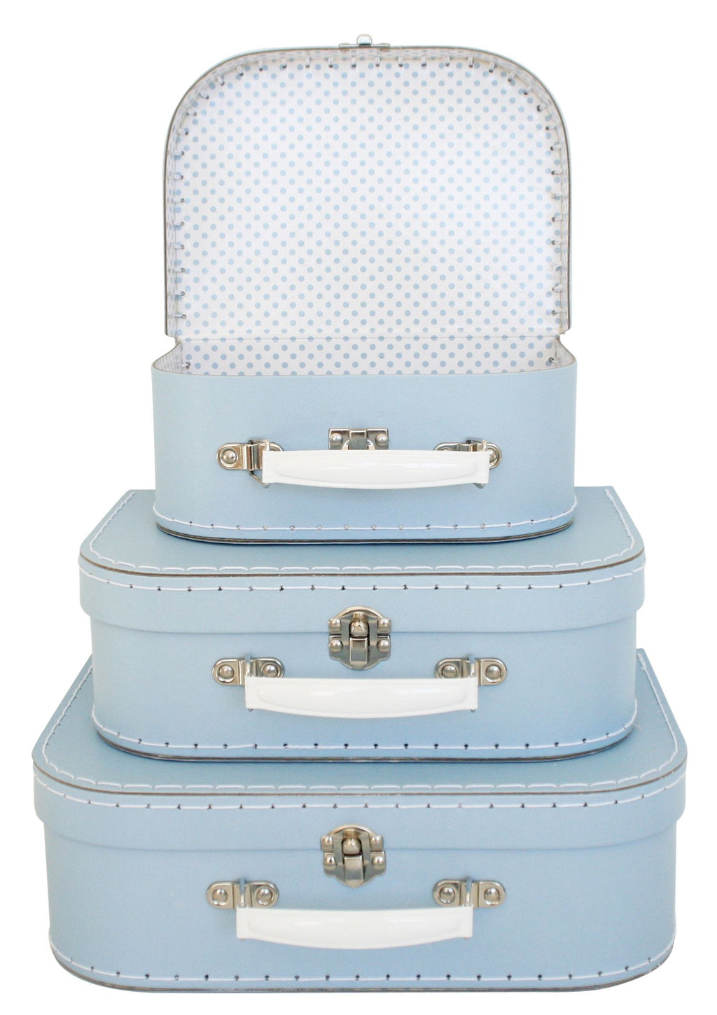 Kids Carry Case in Pale Blue, Large Size Only.
