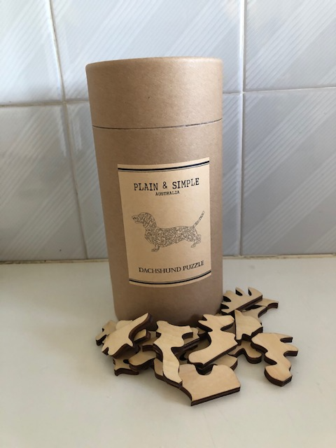 Jigsaw Wooden Puzzle - Dachshund by Plain & Simple