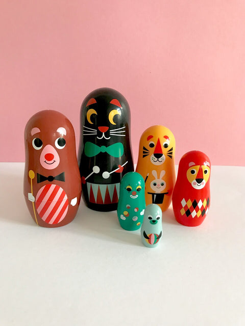 Carnival Nesting Dolls by Omm Design