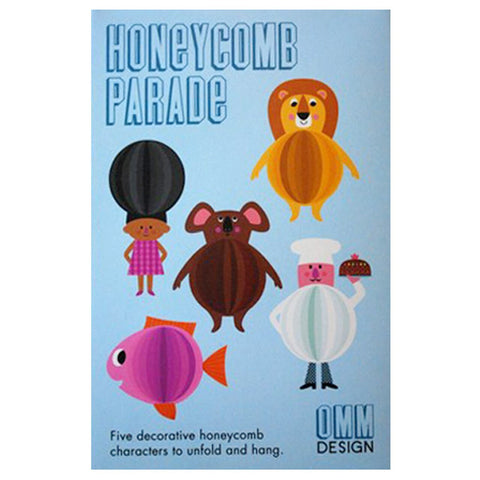 Blue Box Set Honeycomb Character Parade by Omm Design