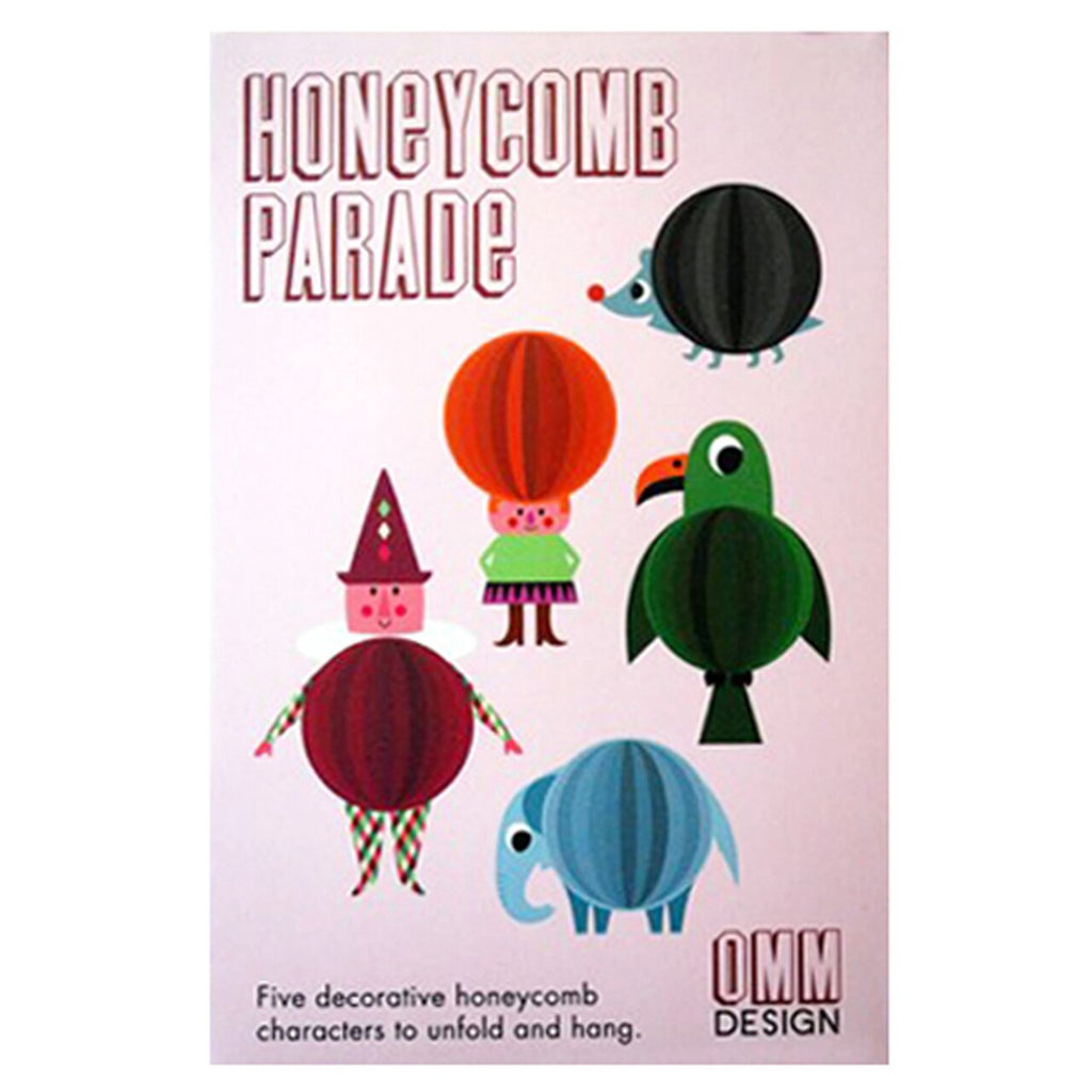Pink Box Honeycomb Character Parade by Omm Design