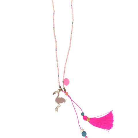 Kids Necklace - Blush Pink Flamingo Necklace