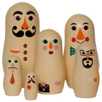 Family Nesting Dolls by Omm Design