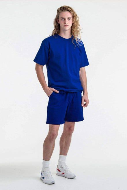 1241GD - Mid-Length Heavy Jersey Short Shorts Los Angeles Apparel Cobalt Blue S