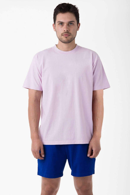 1801GD - 6.5oz Garment Dye Pastel Crew Neck T-Shirt T-Shirt Los Angeles Apparel Pink S