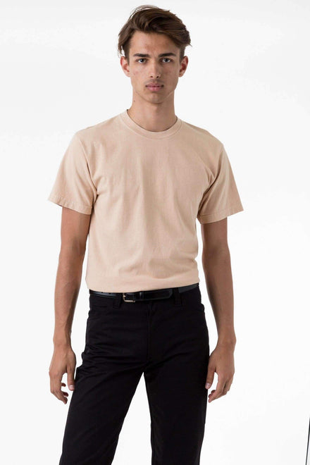 1801GD - 6.5oz Garment Dye Pastel Crew Neck T-Shirt T-Shirt Los Angeles Apparel Beige S