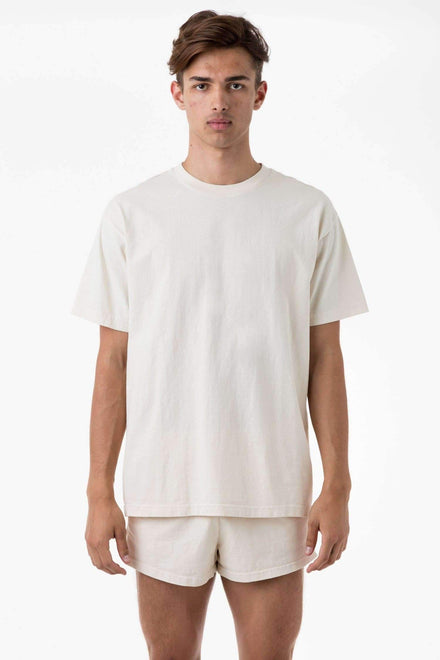 1801GD - 6.5oz Garment Dye Pastel Crew Neck T-Shirt T-Shirt Los Angeles Apparel Creme S