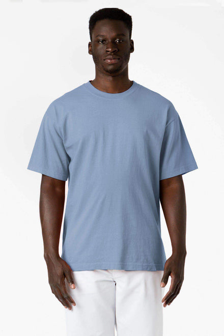 1801GD - 6.5oz Garment Dye Pastel Crew Neck T-Shirt T-Shirt Los Angeles Apparel Clear Blue S