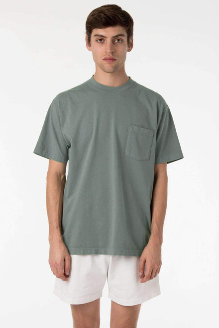 1809GD Mix - Short Sleeve Garment Dye Pocket T-Shirt T-Shirt Los Angeles Apparel Atlantic Green XS