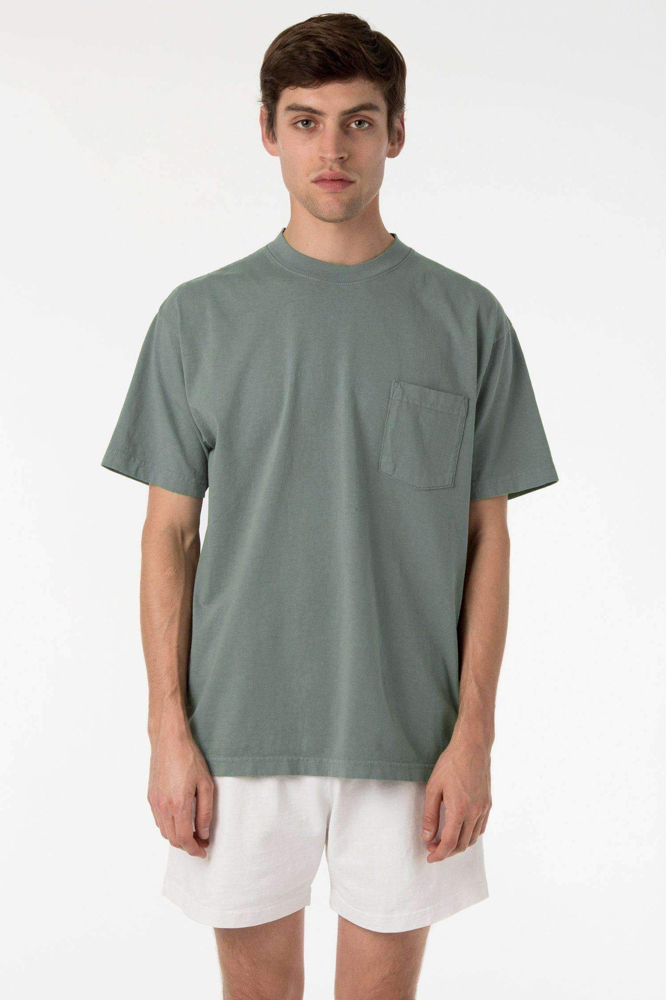 1809GD - Short Sleeve Garment Dye Pocket T-Shirt T-Shirt Los Angeles Apparel Atlantic Green XS