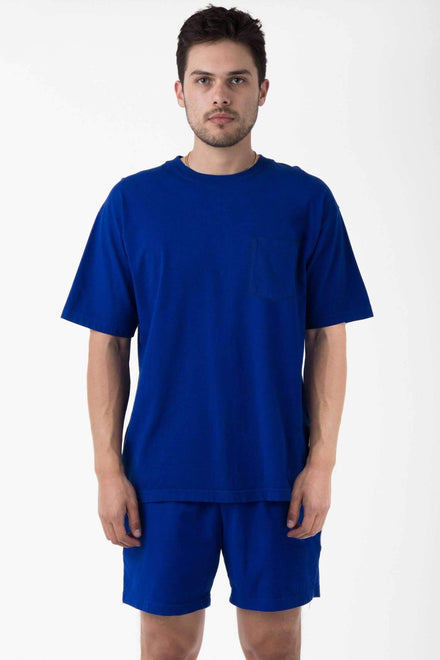 1809GD - Short Sleeve Garment Dye Pocket T-Shirt T-Shirt Los Angeles Apparel Cobalt Blue XS