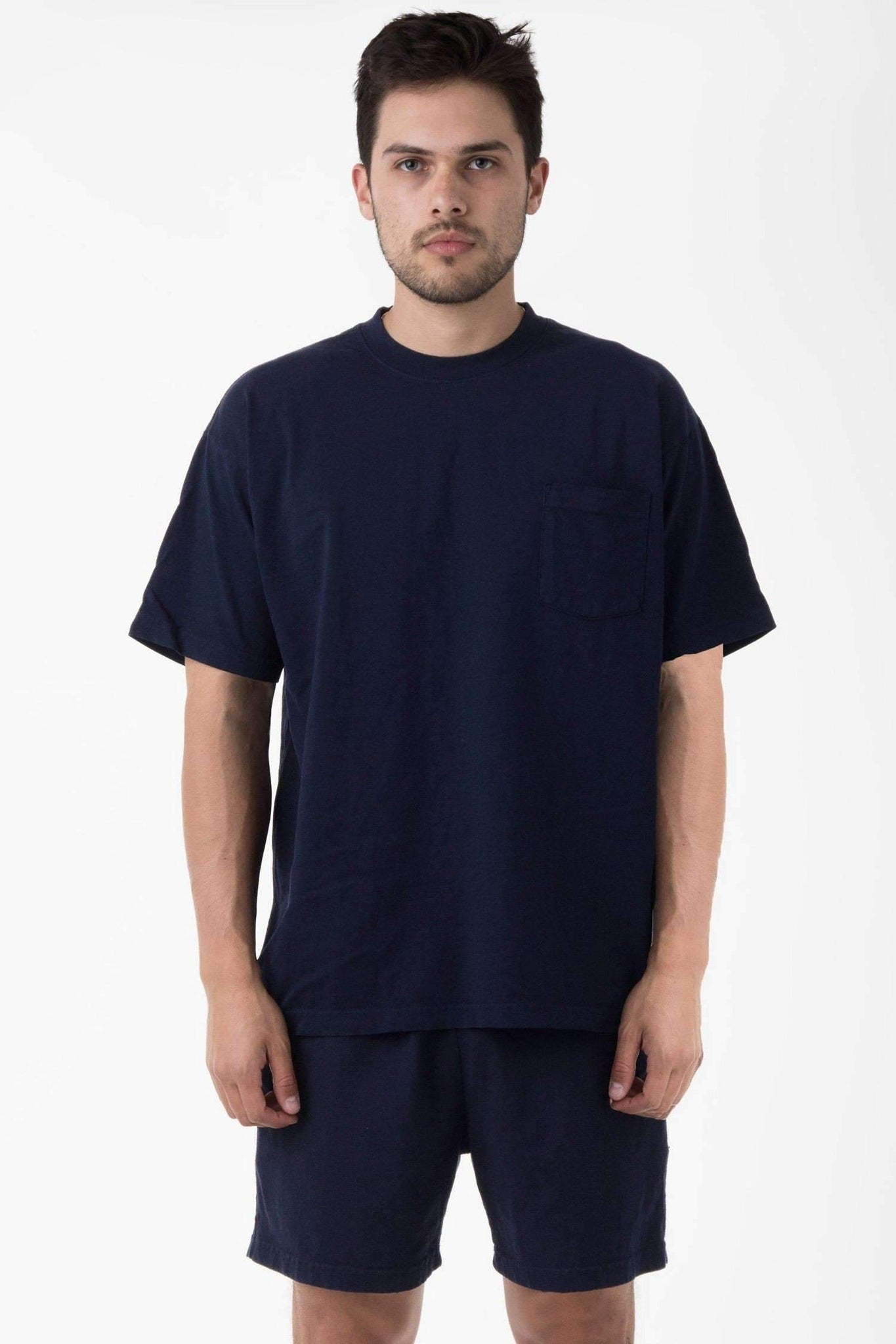 1809GD - Short Sleeve Garment Dye Pocket T-Shirt T-Shirt Los Angeles Apparel Navy XS