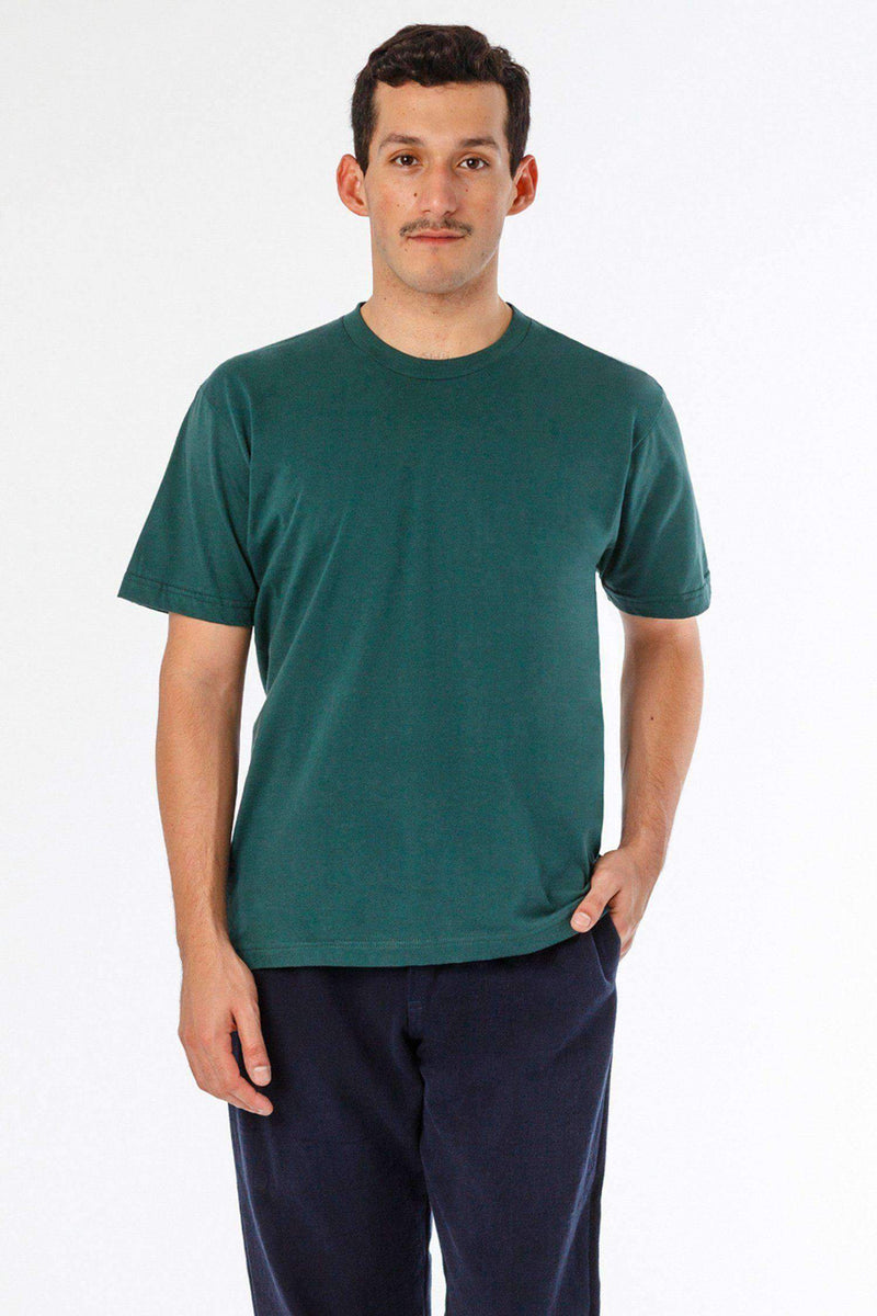 20001 - Fine Jersey Crew Neck T-Shirt T-Shirt Los Angeles Apparel Forest Green XS