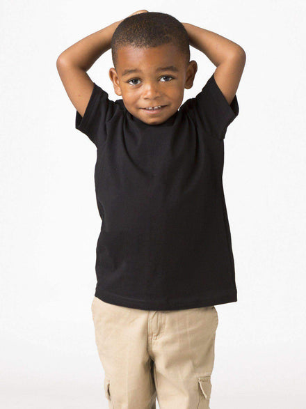 21005 - Toddler Short Sleeve Fine Jersey Tee Kids Los Angeles Apparel Black 2