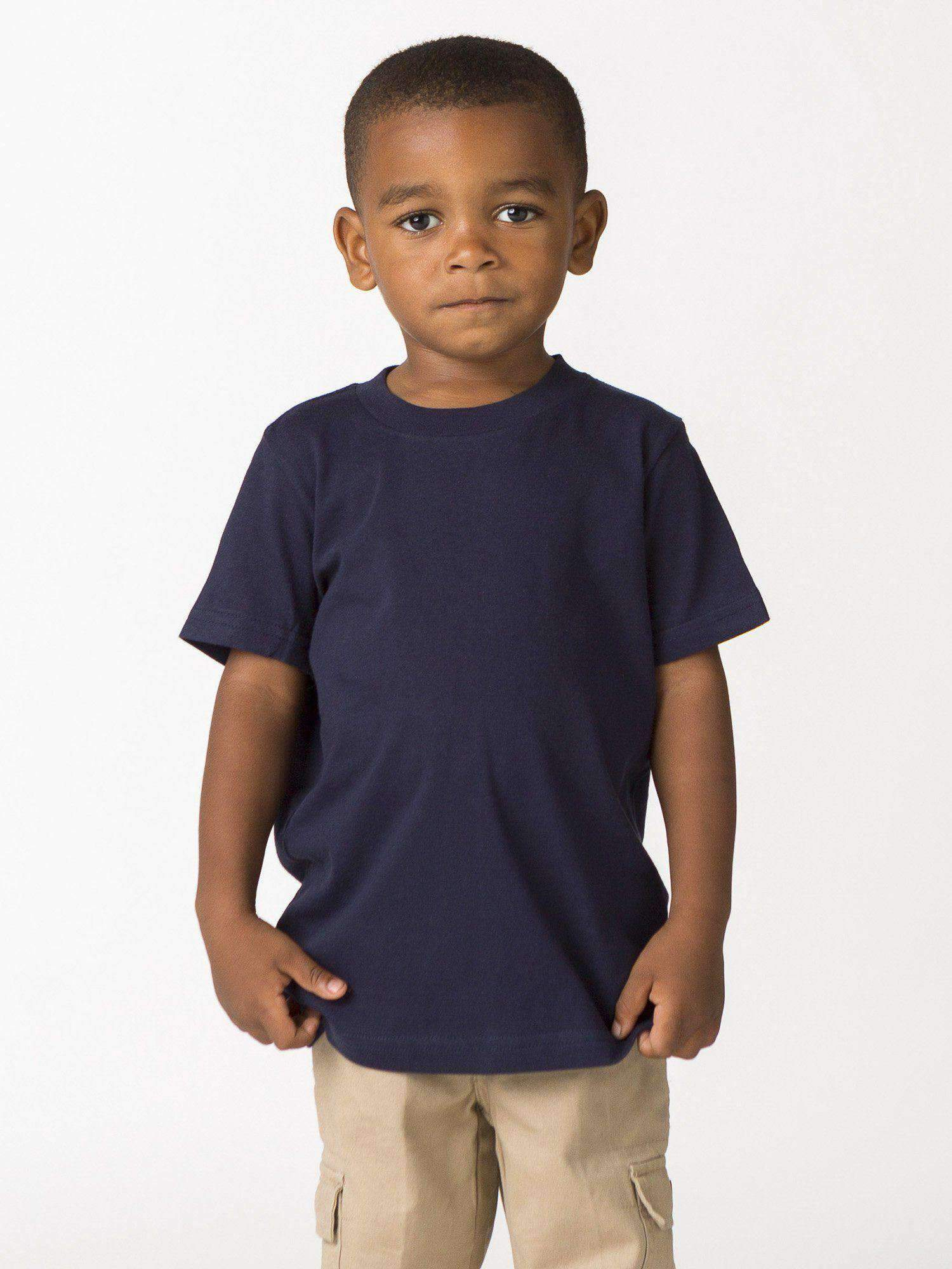 21005 - Toddler Short Sleeve Fine Jersey Tee Kids Los Angeles Apparel Navy 2