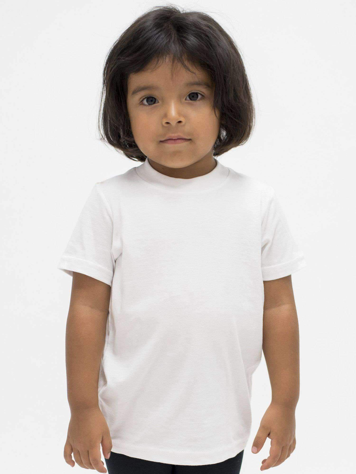 21005 - Toddler Short Sleeve Fine Jersey Tee Kids Los Angeles Apparel White 2