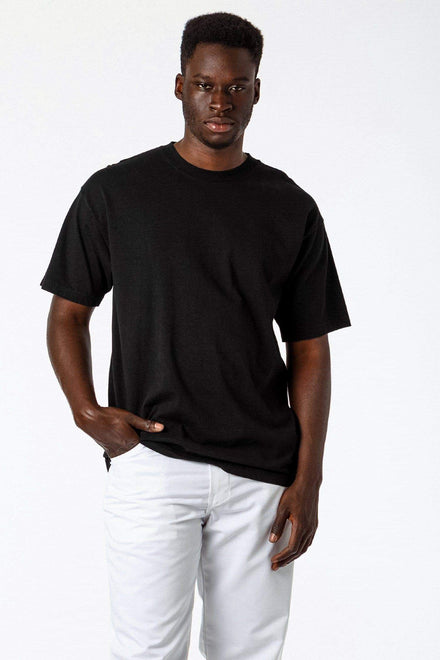 1801GD - 6.5oz Garment Dye Crew Neck T-Shirt (Black)