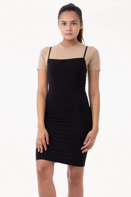83401 - Spaghetti Mid-Length Dress Los Angeles Apparel