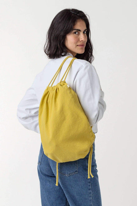 BD09 - Bull Denim Drawstring Backpack Bags Los Angeles Apparel Spectra Yellow
