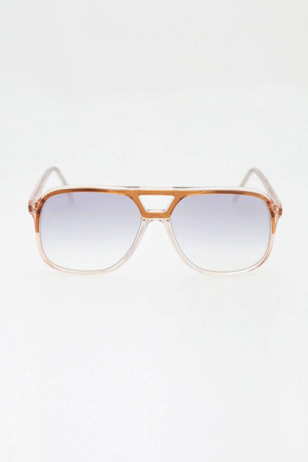 ESQUIRESG - Esquire Vintage Glasses Sunglasses Los Angeles Apparel Amber Pink 55/18