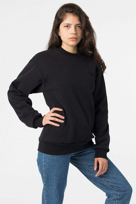 HF07 Mix - 14oz. Heavy Fleece Pullover Crewneck Sweatshirt Sweatshirt Los Angeles Apparel Black XS