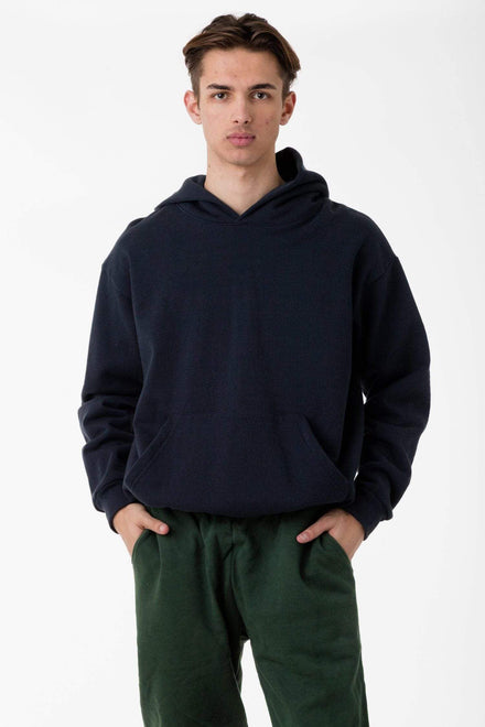 HF09 - 14oz. Heavy Fleece Hooded Pullover Sweatshirt Sweatshirt Los Angeles Apparel Navy S