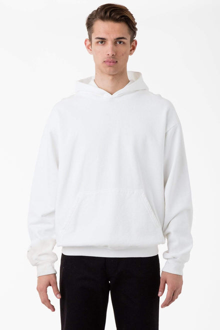 HF09 - 14oz. Heavy Fleece Hooded Pullover Sweatshirt Sweatshirt Los Angeles Apparel White XS
