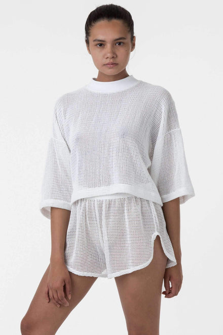RIN304 - Cotton Fishnet Shorts Shorts Los Angeles Apparel