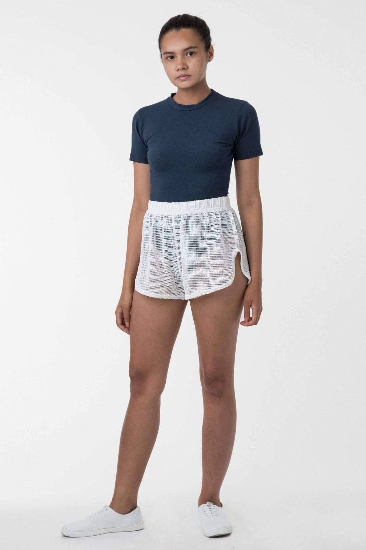 RIN304 - Cotton Fishnet Shorts Shorts Los Angeles Apparel Natural S