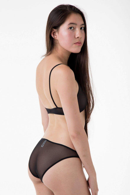 RNS94 - Micro Mesh Bikini Panty Underwear Los Angeles Apparel Black XS