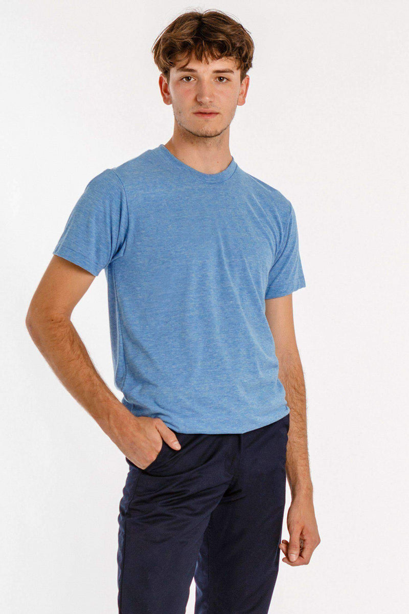 TR01 - Tri-Blend Crew Neck T-Shirt T-Shirt Los Angeles Apparel Athletic Blue S