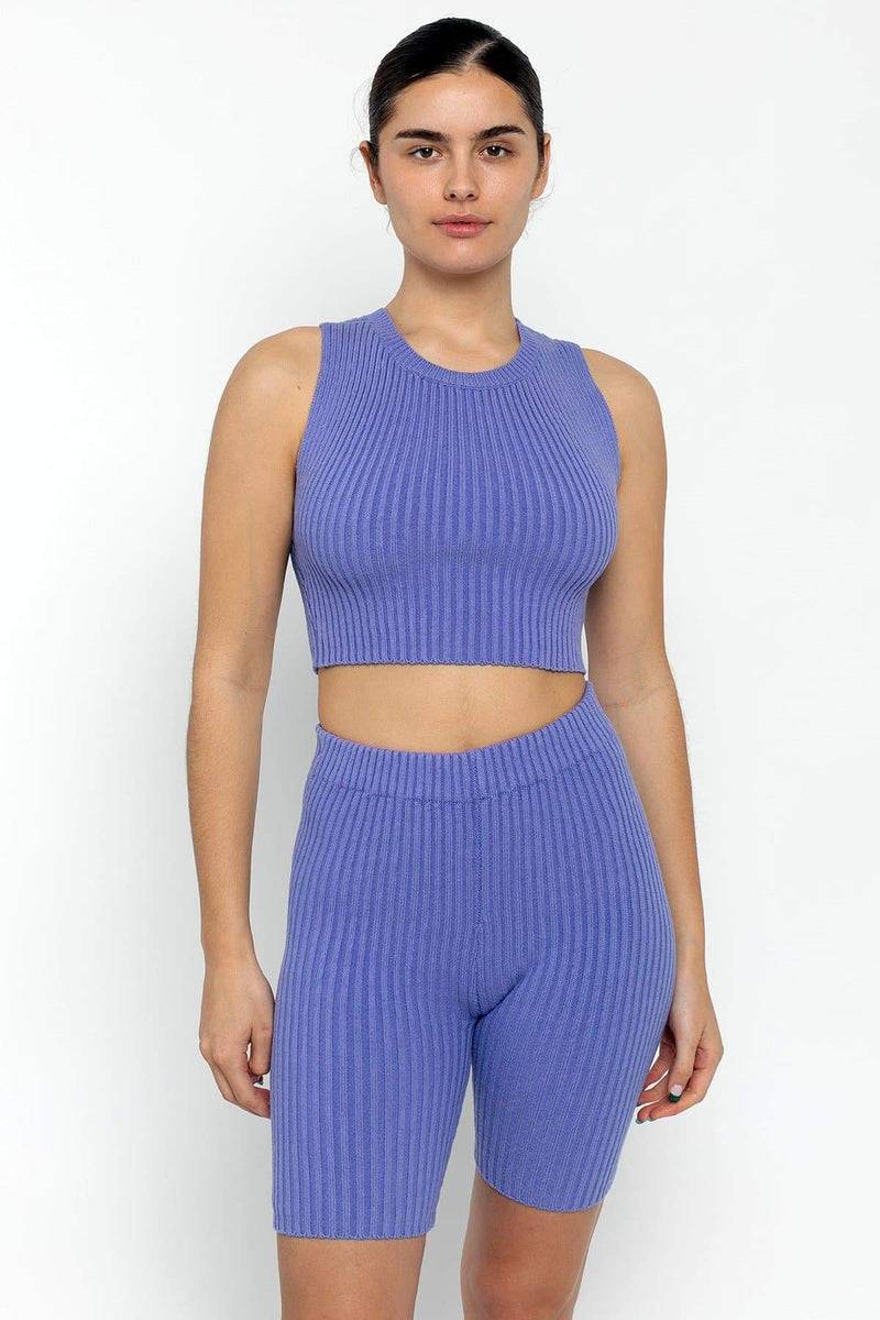 RFK50 - Ultra Heavy Knit Ribbed Crop Top