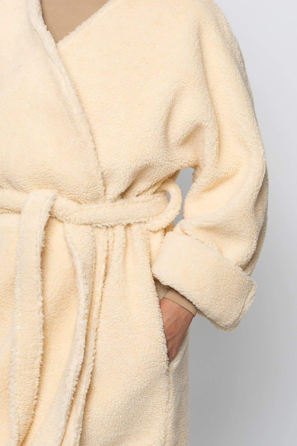SHR312 - The Oversized Sherpa Wrap Coat