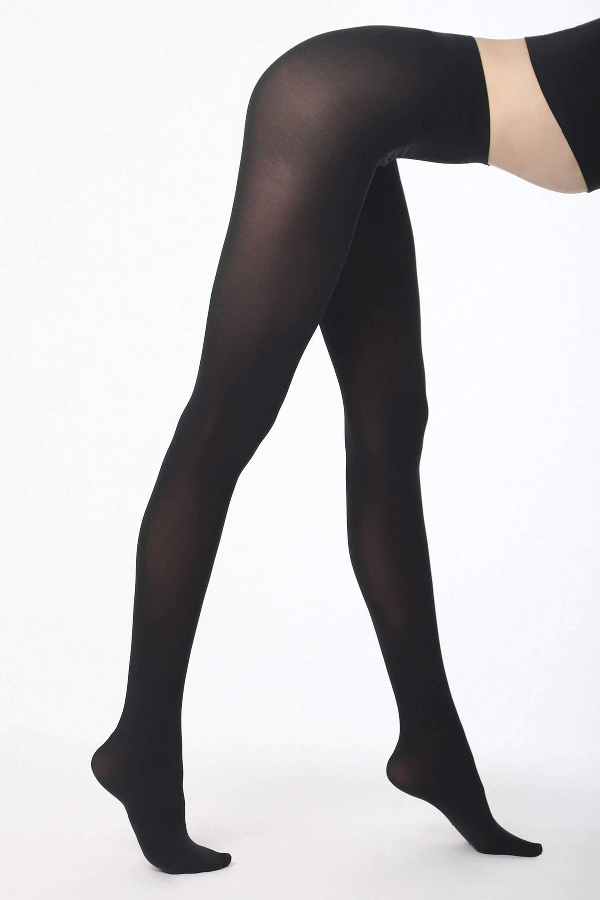 RN330 - Opaque Tights hosiery Los Angeles Apparel Black OS