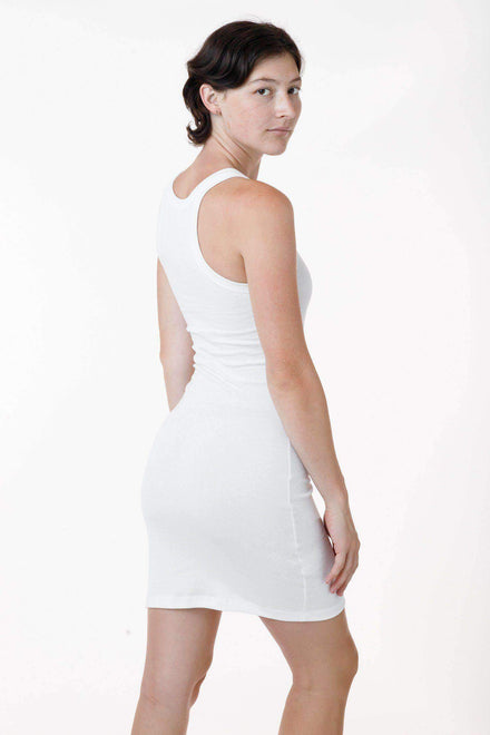 43286 - Baby Rib Mini Tank Dress Dress Los Angeles Apparel