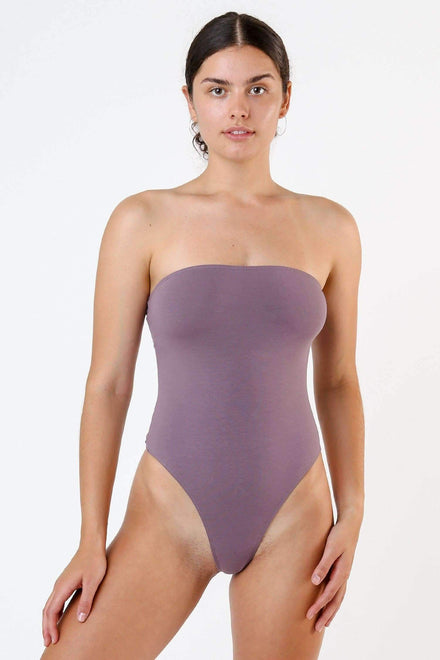 B193CT - Tube Bodysuit Bodysuits Los Angeles Apparel Amethyst XS