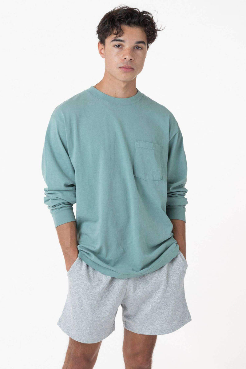 1810GD - Long Sleeve Garment Dye Pocket T-Shirt T-Shirt Los Angeles Apparel Atlantic Green XS