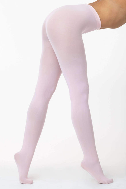 RN331 - Super Opaque Dance Tights hosiery Los Angeles Apparel Ballet Pink OS