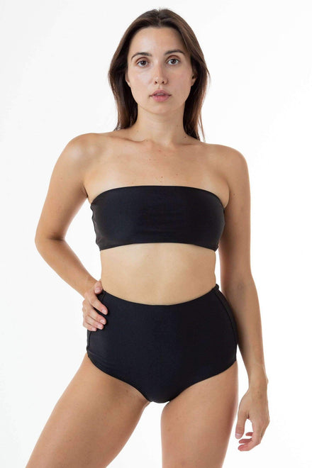 RNT8393 - Tube Bikini Top Swim Los Angeles Apparel Black XS