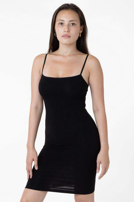 83401 - Spaghetti Mid-Length Dress Los Angeles Apparel Black XS