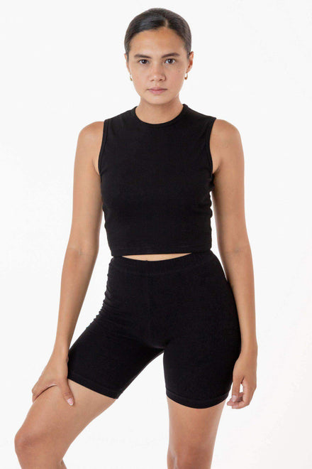 43065 - Baby Rib Sleeveless Crew Neck Top Los Angeles Apparel