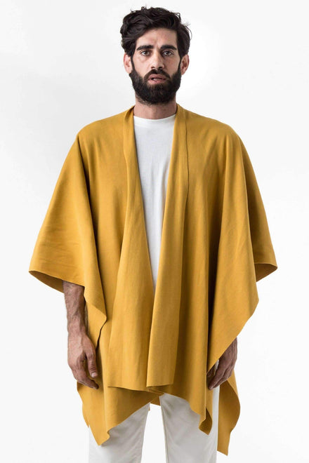 RHFR399GD - Heavy Cotton Rib Poncho Poncho Los Angeles Apparel Mustard