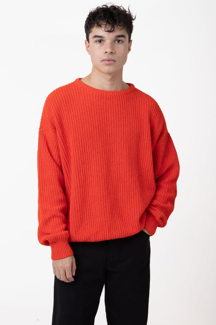 FMP01 - Unisex Fisherman Pullover sweater Los Angeles Apparel Bright Orange XS
