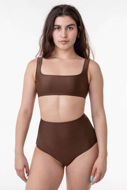 RNT3005 - Square Neck Bikini Top Los Angeles Apparel Chocolate XS