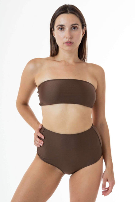 RNT8393 - Tube Bikini Top Swim Los Angeles Apparel Chocolate XS