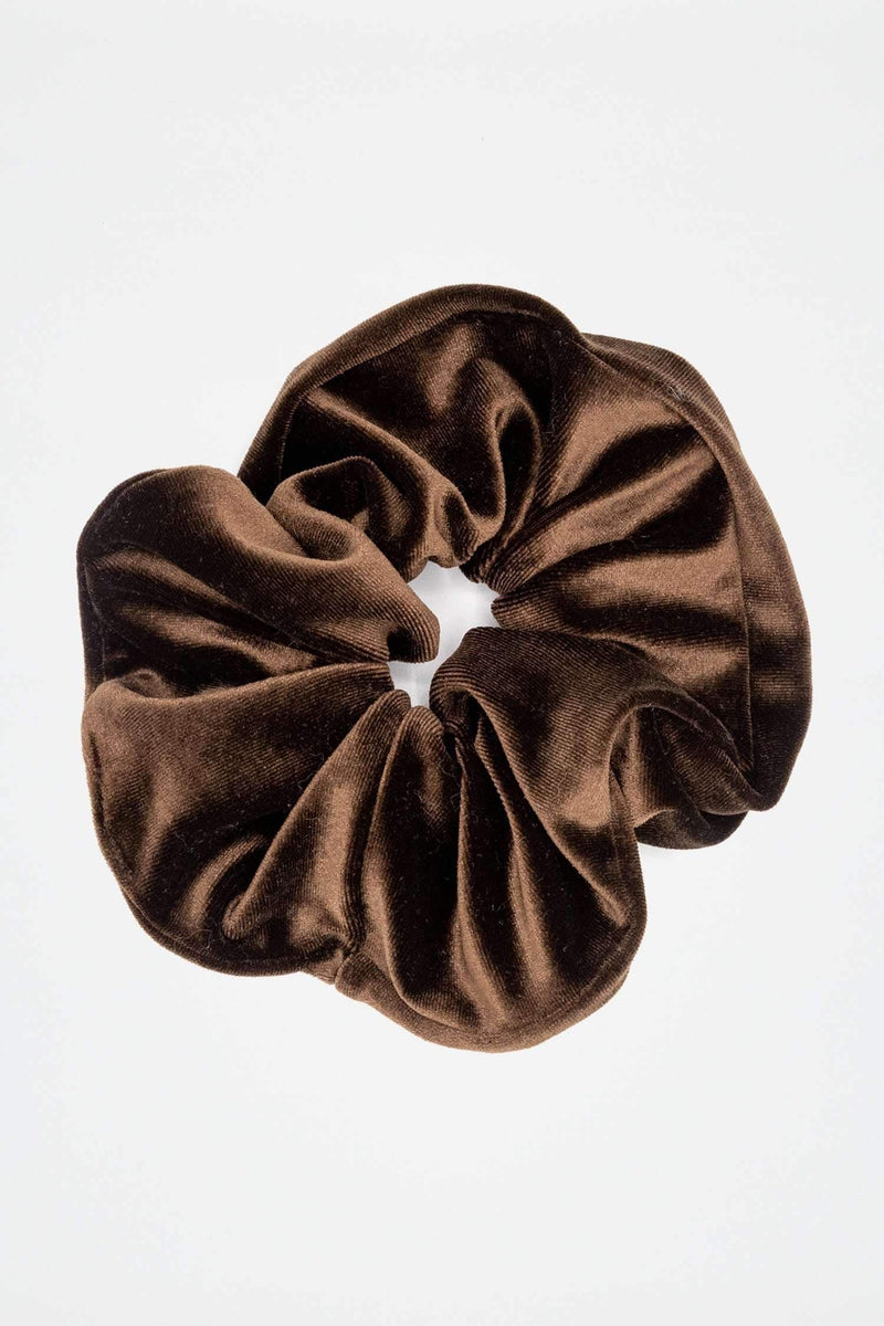 VVTSCRUNCH - Oversized Velvet Scrunchie accessory Los Angeles Apparel Brown