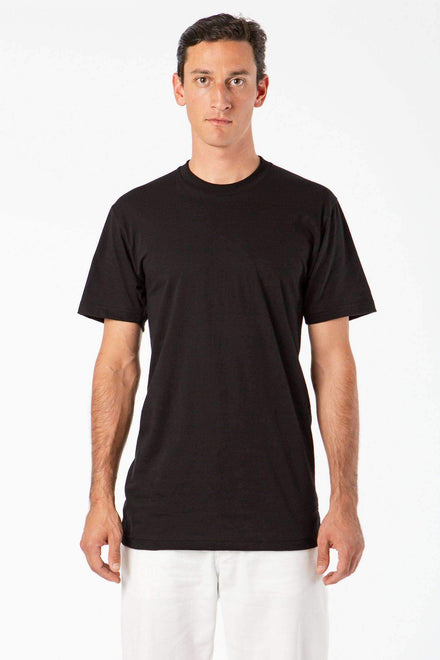 TL20001 - Fine Jersey Crew Neck Tall Tee T-Shirt Los Angeles Apparel Black XS
