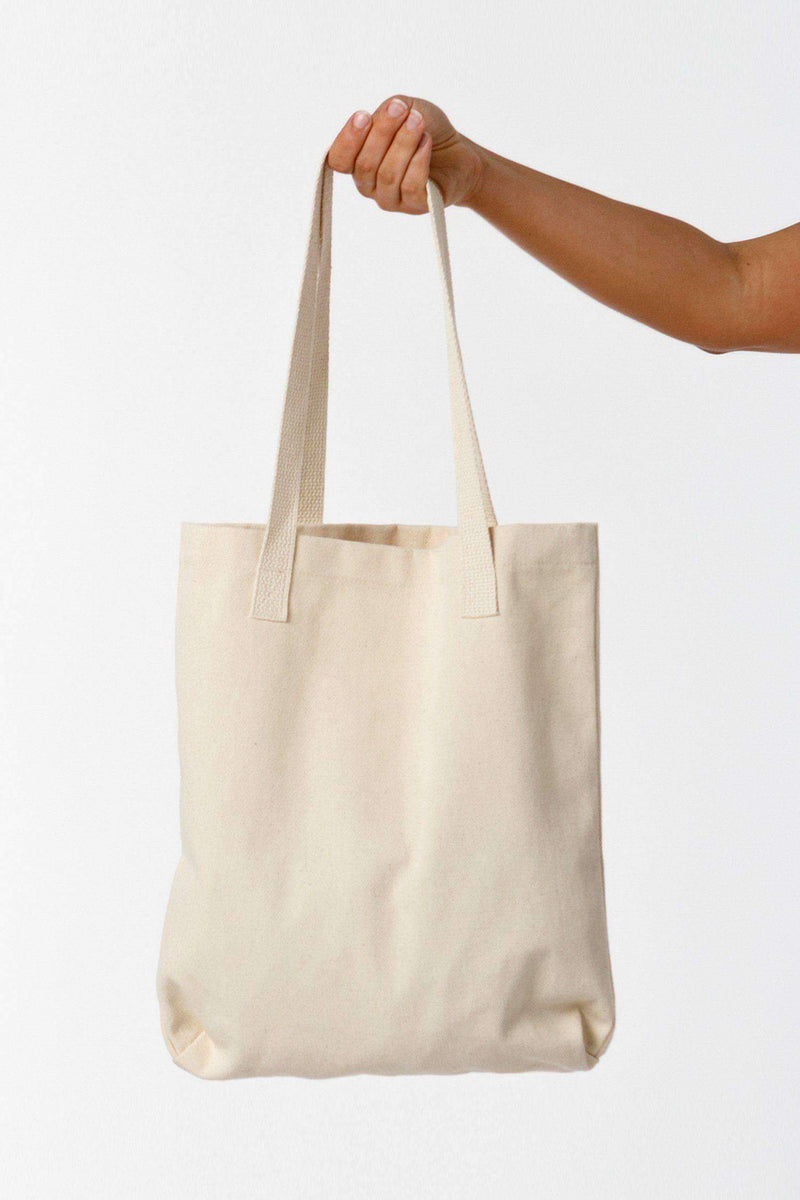 E549 - 12 oz. Bull Denim Tote Bag Bags Los Angeles Apparel Natural OS