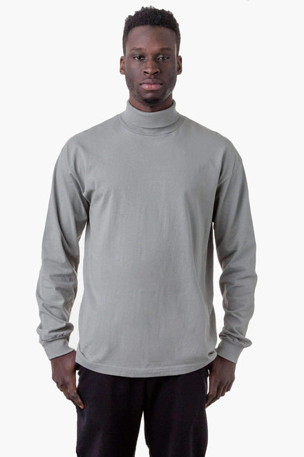 1811GD Unisex - Long Sleeve Garment Dye Turtleneck T-Shirt Los Angeles Apparel Eucalyptus XS